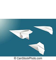 voler, papier, avions