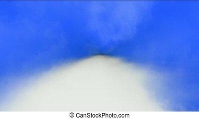 voler, par, jeûne, clouds.