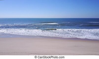 voler, rivage, sable, bas, long, plage