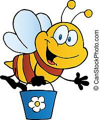 voler, seau, abeille