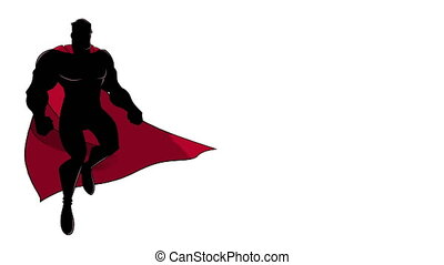 voler, silhouette, superhero
