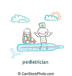 voler, thermomètre, pédiatre, enfant malade