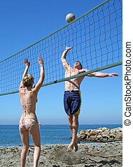 volley-ball plage
