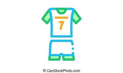volley-ball, uniforme, icône, animation