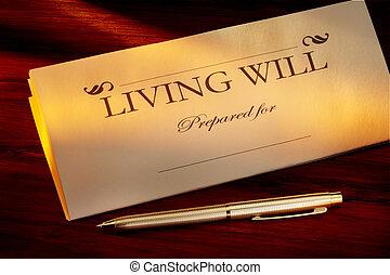 volonté, vivant