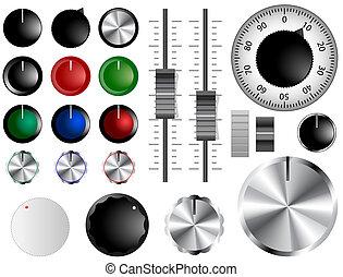 volume, boutons