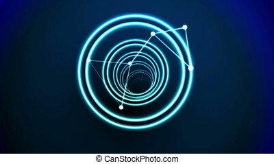 vortex, bleu, noir, conception