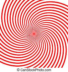 vortex, rouges, illustration