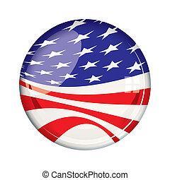 vote, américain, écusson, 2012