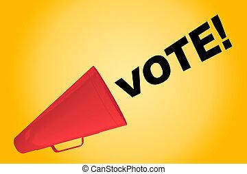 vote!, -, concept, politique