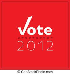 vote, minimaliste, 2012, affiche