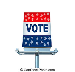 vote, panneau affichage