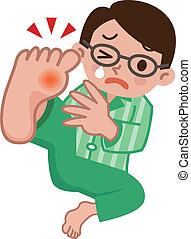 vouloir, douleur, hommes, gout