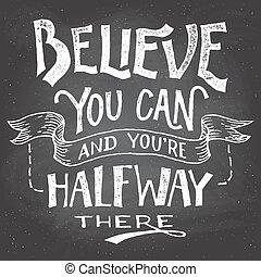 vous, hand-let, boîte, motivation, croire
