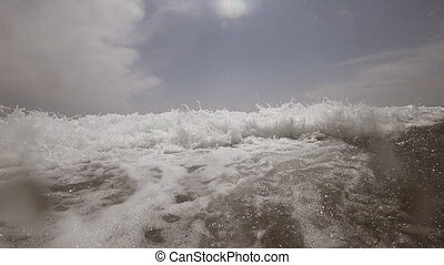vous, rupture, océan, ralenti, devant, vague