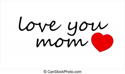 vous, typographie, maman, amour, main