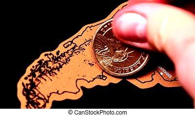 voyage, argentine, dollar, égratignure, monnaie, blogger, carte, or, une