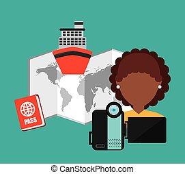 voyage, concept, conception