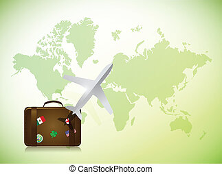 voyage, concept, conception, illustration
