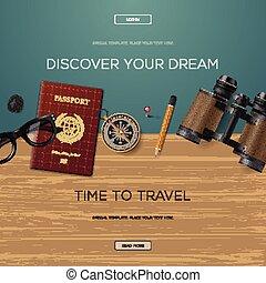voyage, découvrir, aventure, rêve, ton, gabarit