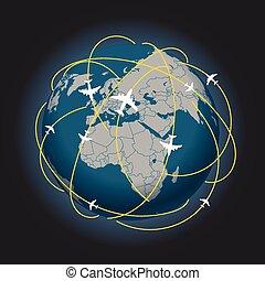 voyage global, plan, résumé