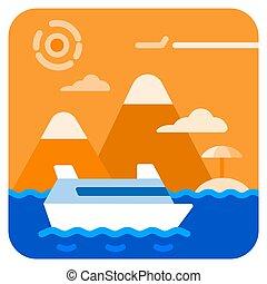 voyage, mer, croisière