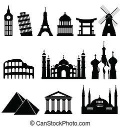 voyage, repères, monuments