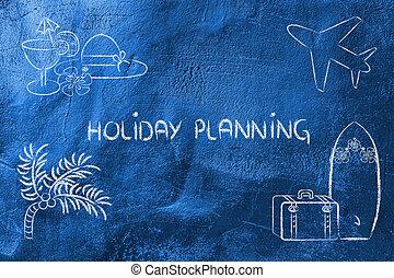 voyage vacances, planification, industry:, réservation