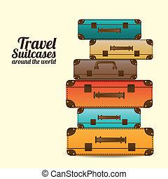 voyage, valises