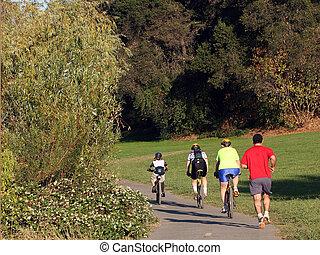 voyager vélos, famille