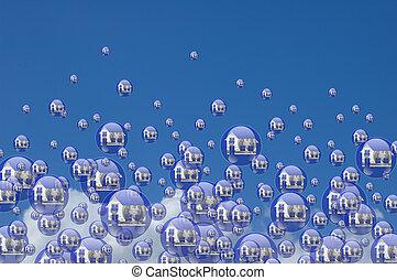 vrai, bulles, propriété