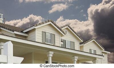 vrai, chronocinématographie, nuages, propriété, forclusion, maison, signe vente
