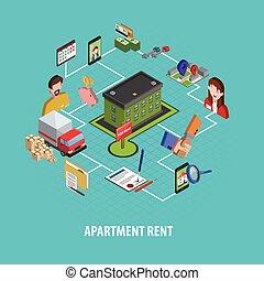 vrai, concept, loyer, propriété