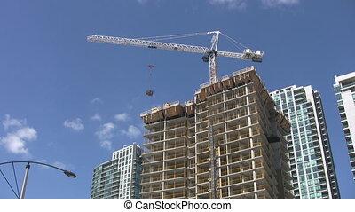 vrai, copropriété, time., construction.