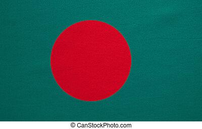 vrai, détaillé, bangladesh, texture, drapeau, tissu