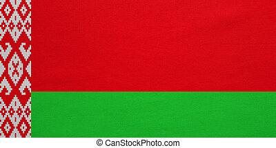 vrai, détaillé, belarus, tissu, texture, drapeau
