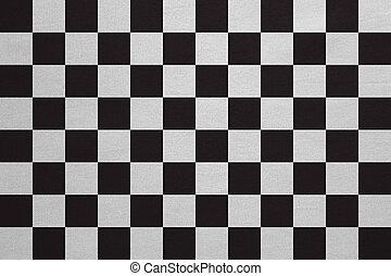 vrai, détaillé, checkered, tissu, texture, drapeau, courses