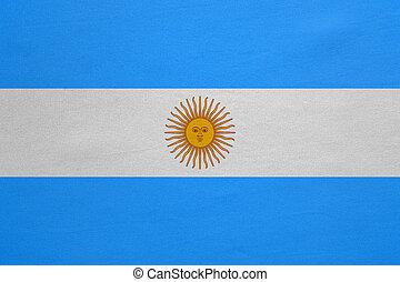 vrai, détaillé, tissu, texture, drapeau, argentine