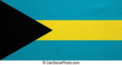 vrai, détaillé, tissu, texture, drapeau bahamas