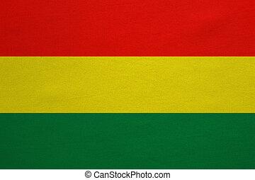 vrai, détaillé, tissu, texture, drapeau, bolivie