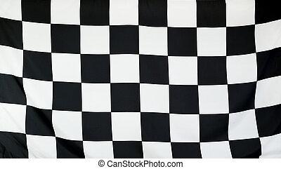 vrai, finition, tissu, haut, seamless, drapeau, course, fin