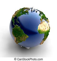 vrai, miniature, la terre