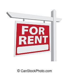vrai, vecteur, loyer, propriété, signe