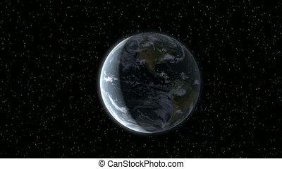 vu, la terre, lune