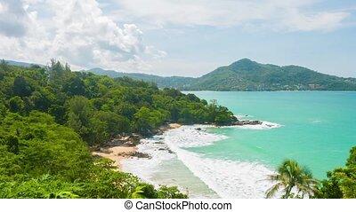 vue, boisé, beachline, thaïlande, panoramique