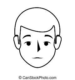 vue frontale, silhouette, coloré, homme