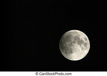 vue, lunaire, turin, italie, lentille, téléobjectif, phase, éclipse, par