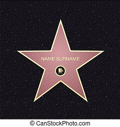 vue., name., renommée, endroit, sommet, étoile