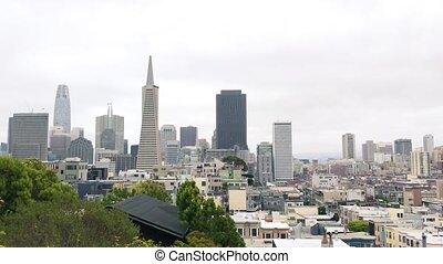 vue panoramique, francisco, horizon, aérien, san, californie