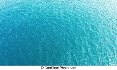 vue, surface, mer, aérien